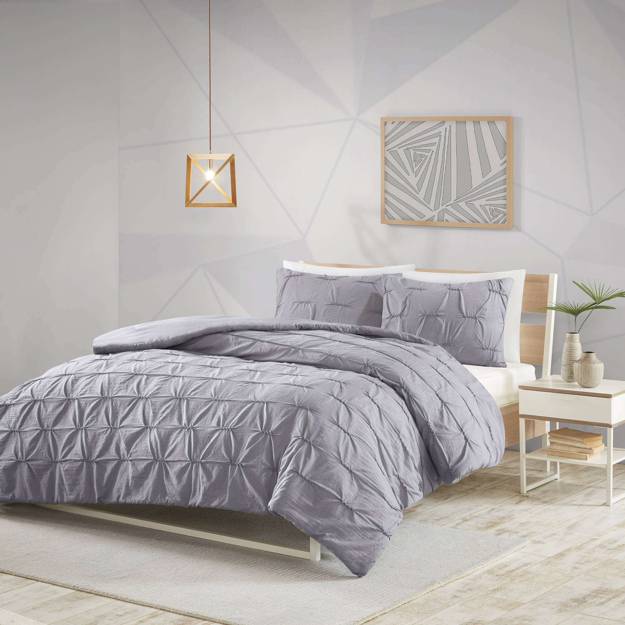 Better Homes and Gardens Embroidered Diamond 3-Piece Comforter Set