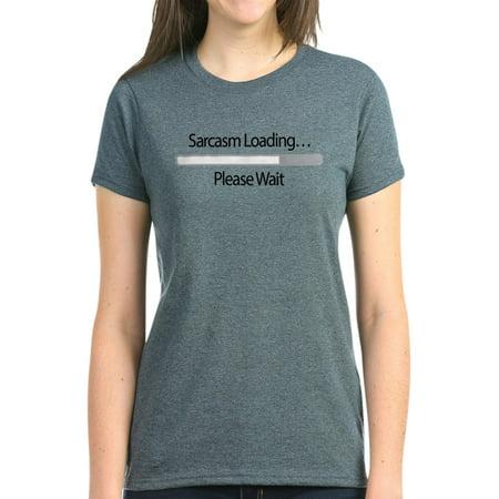 fa7b0fb02 CafePress - CafePress - Sarcasm Loading Please Wait - Women's Dark T-Shirt  - Walmart.com