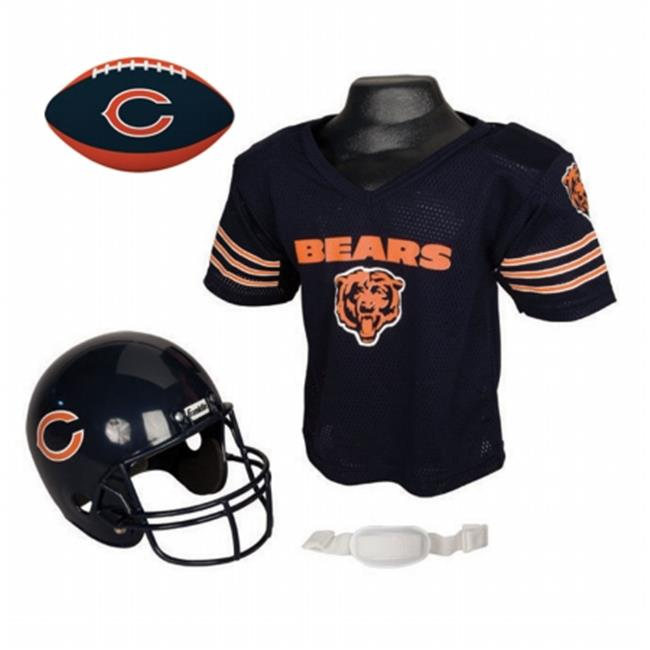 IFS IFS-15720F02-FB Chicago Bears NFL Youth Size Helmet & Jersey with Team Color Football