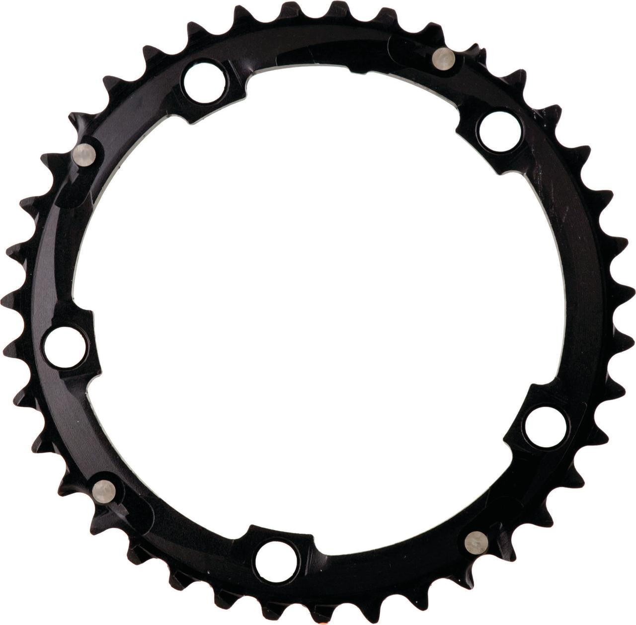 """ACTION 130MM 39T BLACK 3/32"""" RAMPED CHAINRING"""