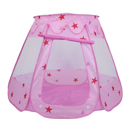 Playhouse Windows And Doors - Foldable Kids Play Tent for Outdoor & Indoor Game, Portable Childs Girl Princess Playhouse Toy, Kids Indoor Playhouse with Door and Mesh Window, Travel Tent, Birthday Gift
