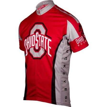 NCAA Men's Adrenaline Promotions Ohio State Buckeyes Cycling Jersey - Large ()