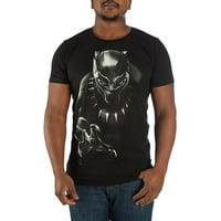 Men's Black Panther Character Black Tee