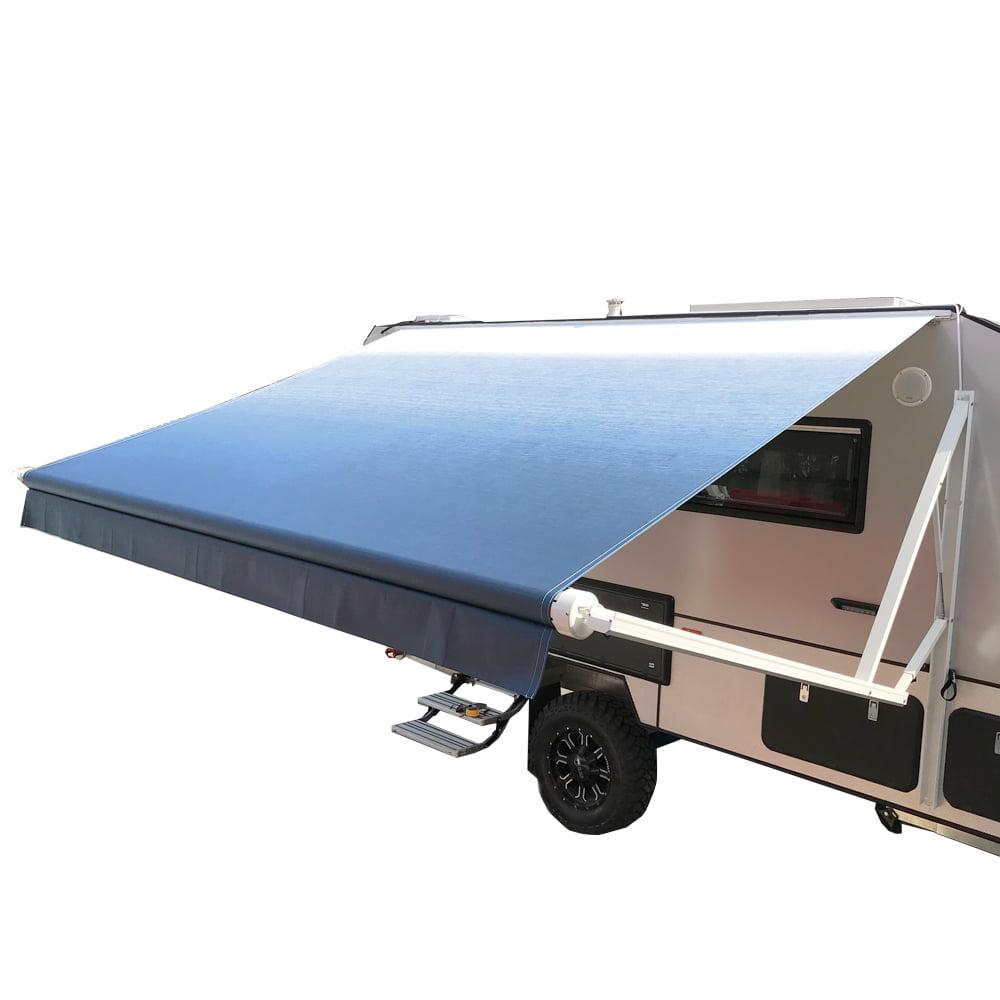 ALEKO Motorized Retractable RV/Patio Awning - 12 x 8 Feet - Blue Fade