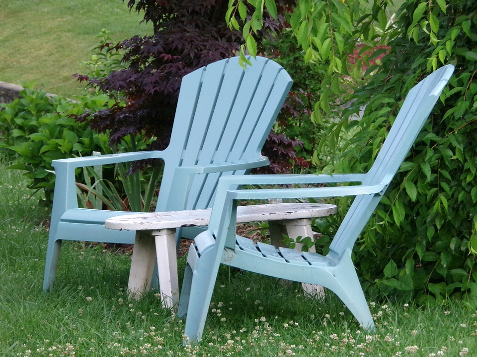 LAMINATED POSTER Relaxation Adirondack Summer Chair Outdoor Poster Print 24 x 36 by
