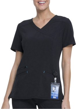 257a1ba9b60 Product Image Scrubstar Women's Fashion Premium Performance Mock Wrap Scrub  Top