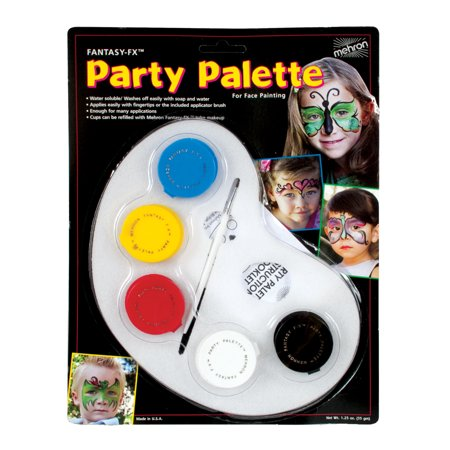 Party Palette Face Paint Kit Adult Halloween Accessory](Halloween Patterns To Paint)