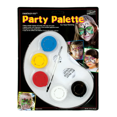 Party Palette Face Paint Kit Adult Halloween Accessory