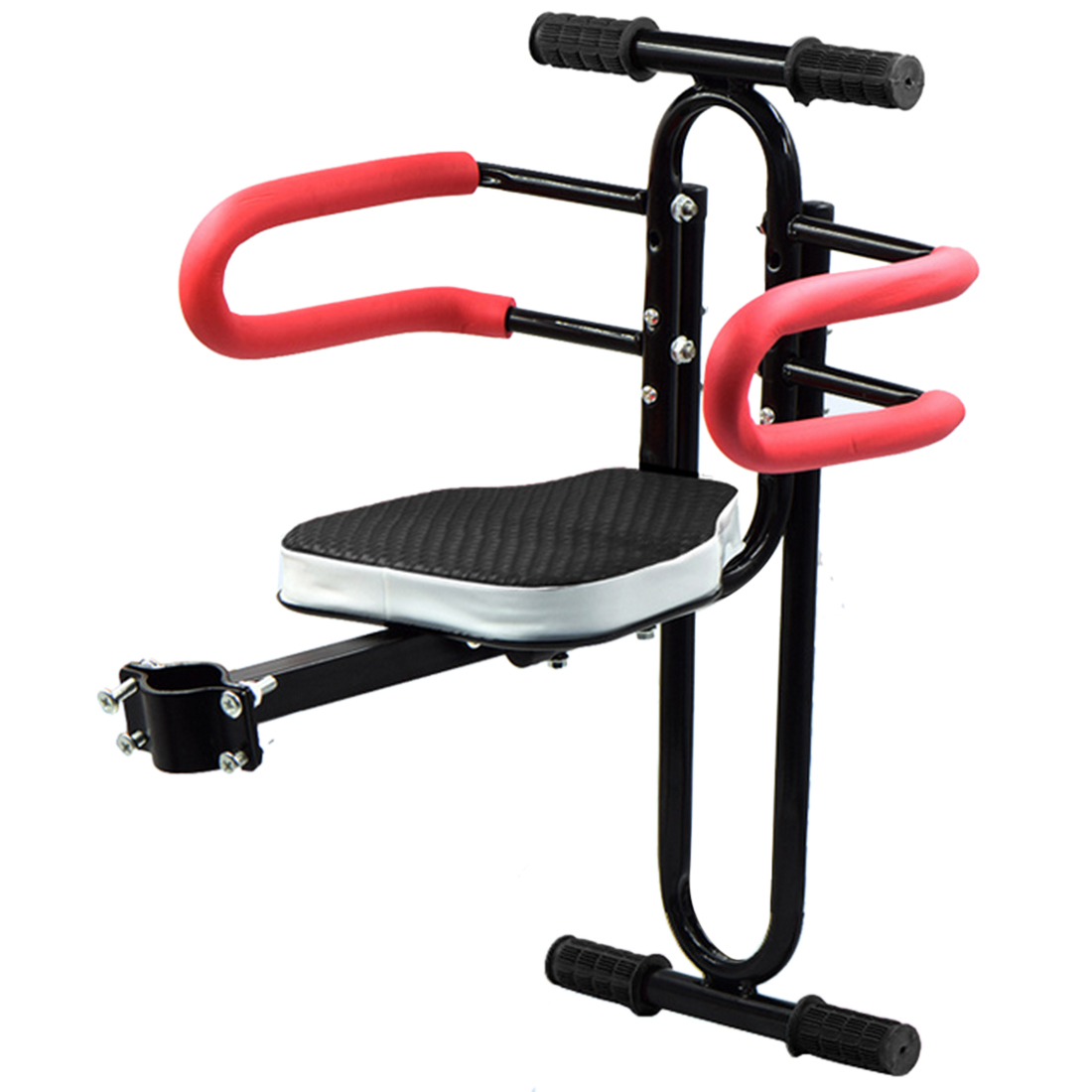 Lixada Child Bicycle Safety Seat with Armrest Guard Bar and Footrest - Black