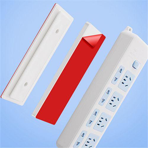 Plug Holder Wall-Mount Self Adhesive Power Strip Fixator Socket Cable Fixer Rack