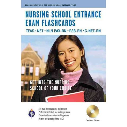 Nursing School Entrance Exams Flashcards: TEAS, NET, NLN PAX-RN, PSB-RN, C-NET-RN, Testware Edition