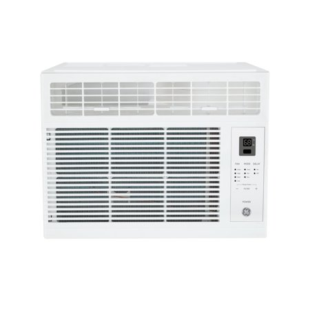 GE 6000 BTU 115-Volt Room Air Conditioner with Remote for Rooms up to 250 Sq.Ft, WHITE, AHW06LZ