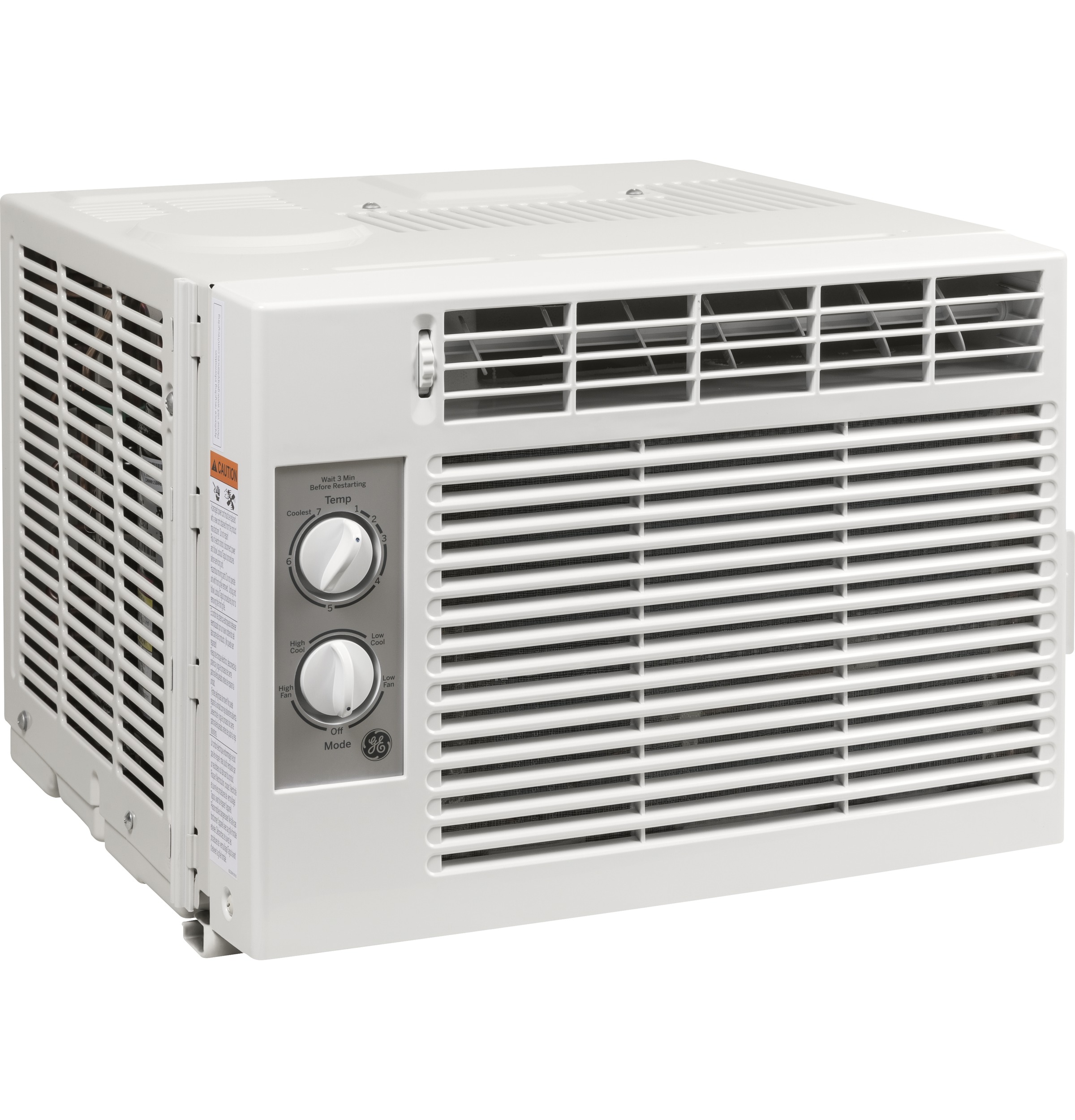 GE 5000 BTU Mechanical Air Conditioner, 115V, Gray, AET05LX