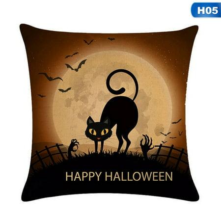 Throw A Halloween Party (AkoaDa 1Pc Happy Halloween Pillow Case Sofa Waist Throw Cushion Cover Home Party)