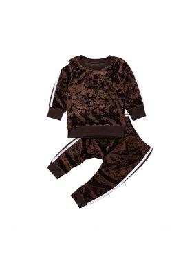a15c2c2db1 Product Image Unisex Newborn Clothes Sets Girls Long Sleeve Velvet Pullover  Sweatshirt Tops+Long Pants Set Kids
