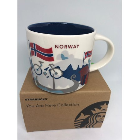 Starbucks You Are Here Collection Norway Ceramic Coffee Mug New with Box