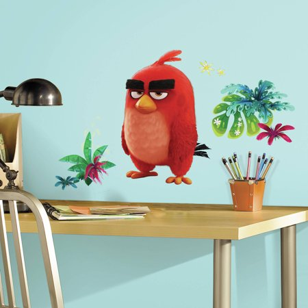 Roommates Decor Angry Birds The Movie Red Peel And Stick Giant Wall