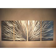 Radiance Silver - Abstract Metal Wall Art Contemporary Modern Decor by Miles Shay