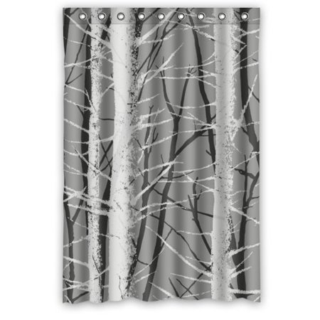 EREHome Pretty Aspen Shower Curtain Polyester Fabric Bathroom Decorative Curtain Size 48x72 Inches - image 1 of 1