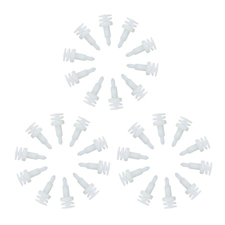 "Nylon Bumper Fastener Rivet Clips White Door Panel Retainer Clips 1/4"" (6.3mm) Hole Size 30 Pcs - image 4 of 7"
