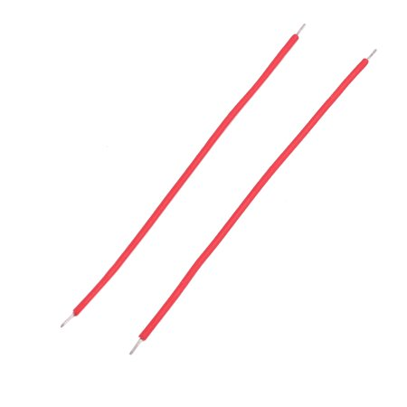 200pcs 0.7mm x 50mm Dual Head Electric Insulated Flexible PVC Wire Cable Red - image 1 de 2