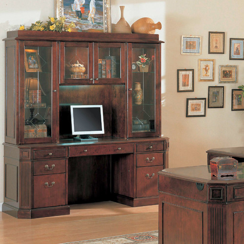 Wildon Home  Youngtown Executive Desk with Hutch