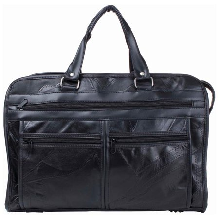 Brand Italian Mosaic Design Genuine Leather Briefcase