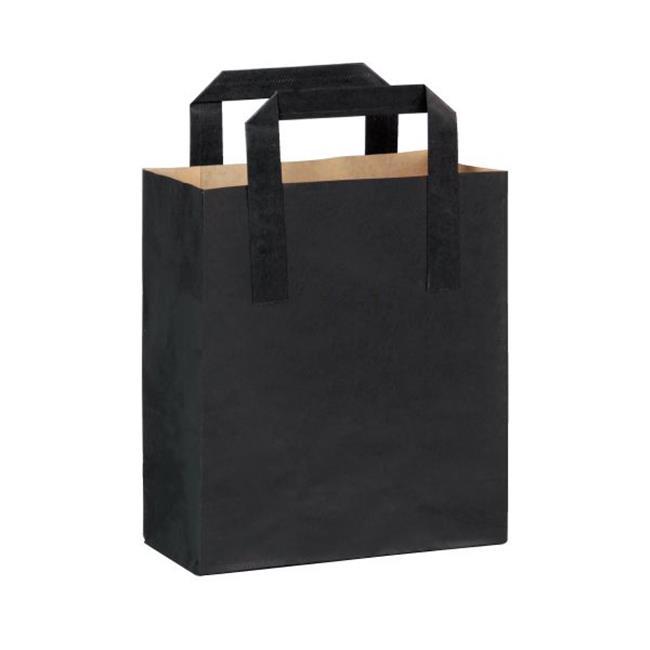 Packnwood 210CABABYN Black Paper Bag