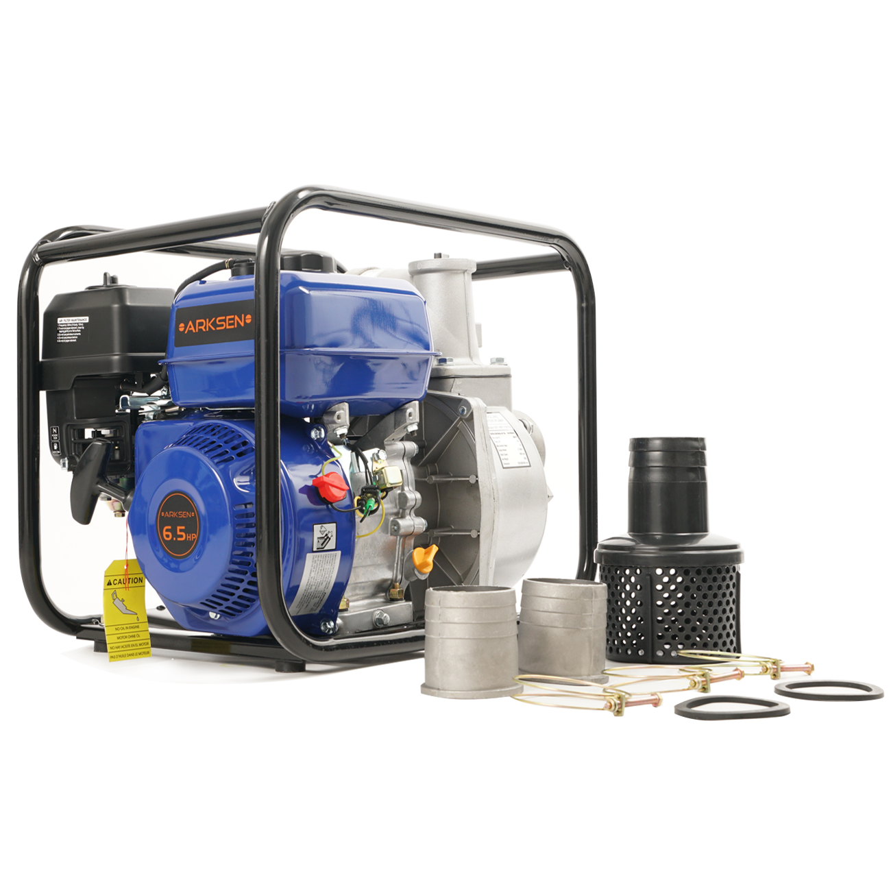 Arksen 3-Inch 6.5HP OHV Gas-Powered Portable Water Pump T...