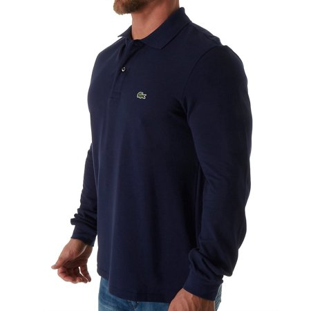 f020e37f4c312 Lacoste Men s Long Sleeve Classic Pique Polo Navy Blue 6(XL ...