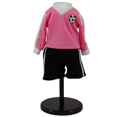 Soccer Outfit Set, Shorts, Soccer Jersey And Socks Fits 18 Inch Girl Doll Clothes & Accessories ()