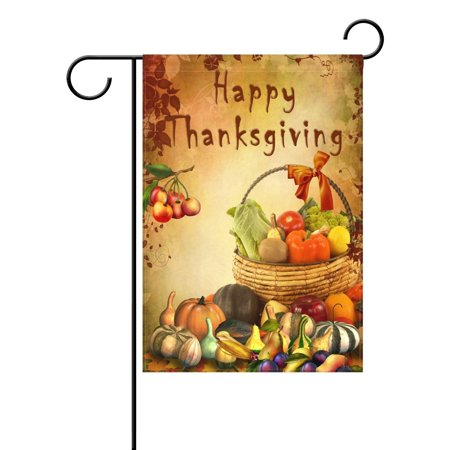 Outdoor Thanksgiving Decorations (POPCreation Autumn Harvest Pumpkin Thanksgiving Garden Flag Outdoor Flag Home Party 28x40)