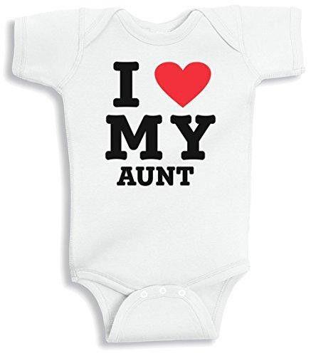 Lil Shirts I Love My Aunt Baby Bodysuit~0-3 Months / White