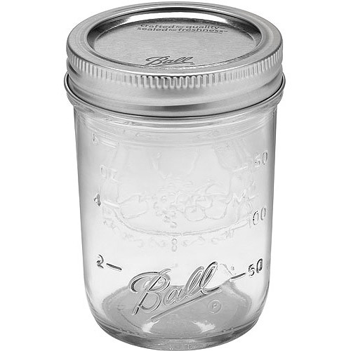 Ball 12-Count Regular Mouth Half-Pint Jars with Lids and Bands