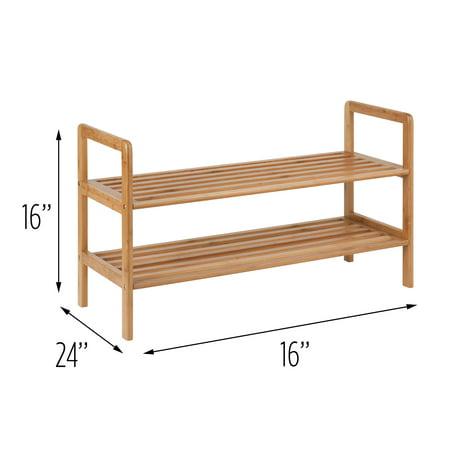 Honey Can Do 2-Shelf Bamboo Shoe Rack ()