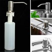 kitchen sink soap dispenser double 350ml kitchen sink clear liquid lotion hand soap dispenser 304 stainless steel pump head abs bottle dispensers