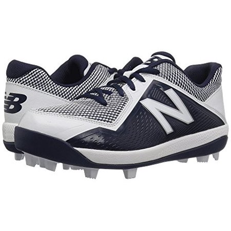 new balance youth j4040v4 molded baseball cleats - navy white ()