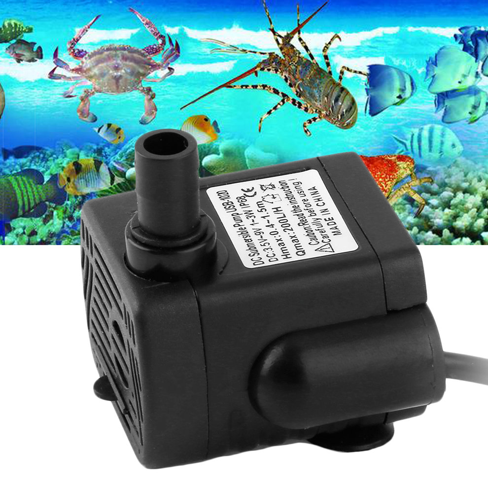 DC359V 3W Brushless DC Submersible Water Pump USB Fountain Fish