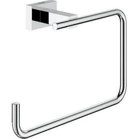 Essentials Cube Towel Ring in Polished Chrome - image 1 de 1