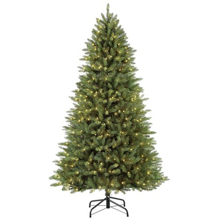 7.5 ft Pre-Lit Slim Elegant Series Fraser Fir Artificial Christmas Tree with 600 UL-Listed Clear Lights
