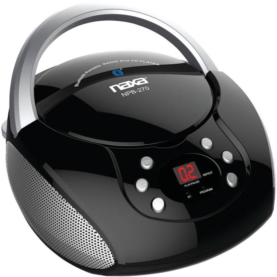 Naxa NPB-270 Bluetooth Streaming CD/CD-R/RW Boombox