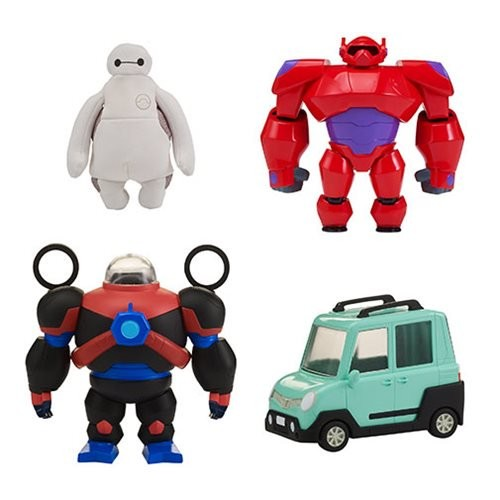 Big Hero 6 TV Series Squish Fit Baymax Figure with Vehicle (Number of Pieces per Case: 3)