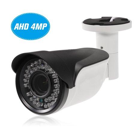 4MP ( 1080P / 1440P / 1520P ) AHD 2.8~12mm Manual Zoom Varifocal Lens IR Bullet CCTV Analog Camera Support IR-CUT Night Vision 42pcs Infrared Lamps Weatherproof Indoor Outdoor Security NTSC System