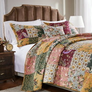 Greenland Home Fashions Antique Chic Quilt and Pillow Sham Set, 2-Piece Twin/Twin XL