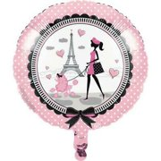 Party in Paris Foil Balloon, 4PK