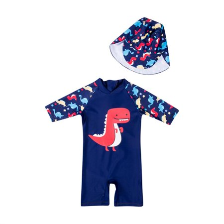 Kid Boy Swimming Suit One-Pieces Dinosaur Swimsuit Bathing Swimwear Outfits 1-6Y - Dinosaur Suit Rental
