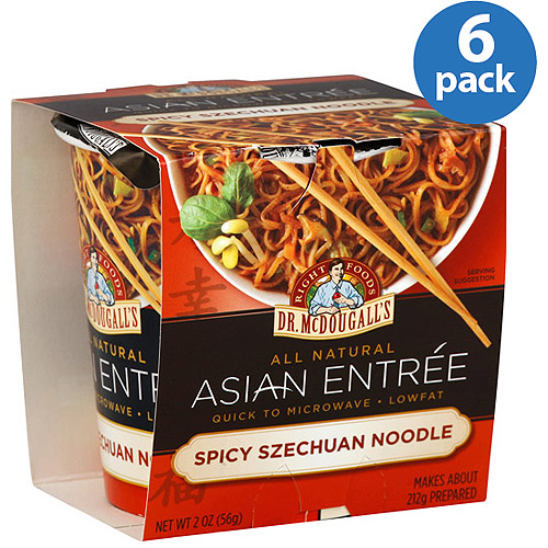 Dr. McDougall's Spicy Szechwan Noodle Asian Entree, 2 oz, (Pack of 6)