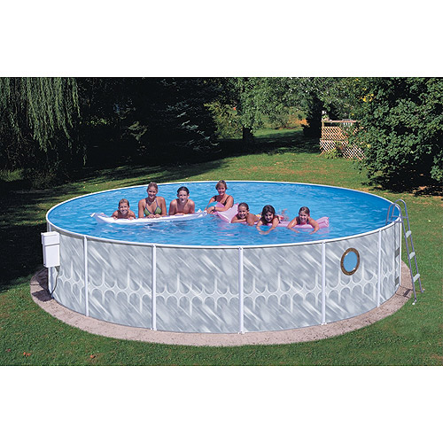 "Heritage Round 18' x 42"" Deep Complete Above Ground Swimming Pool"