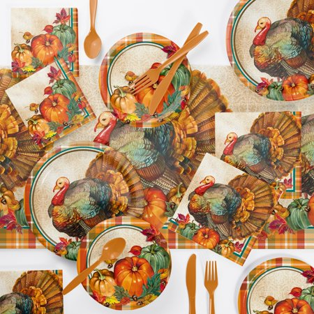 Traditional Thanksgiving Party Supplies Kit - Thanksgiving Parties