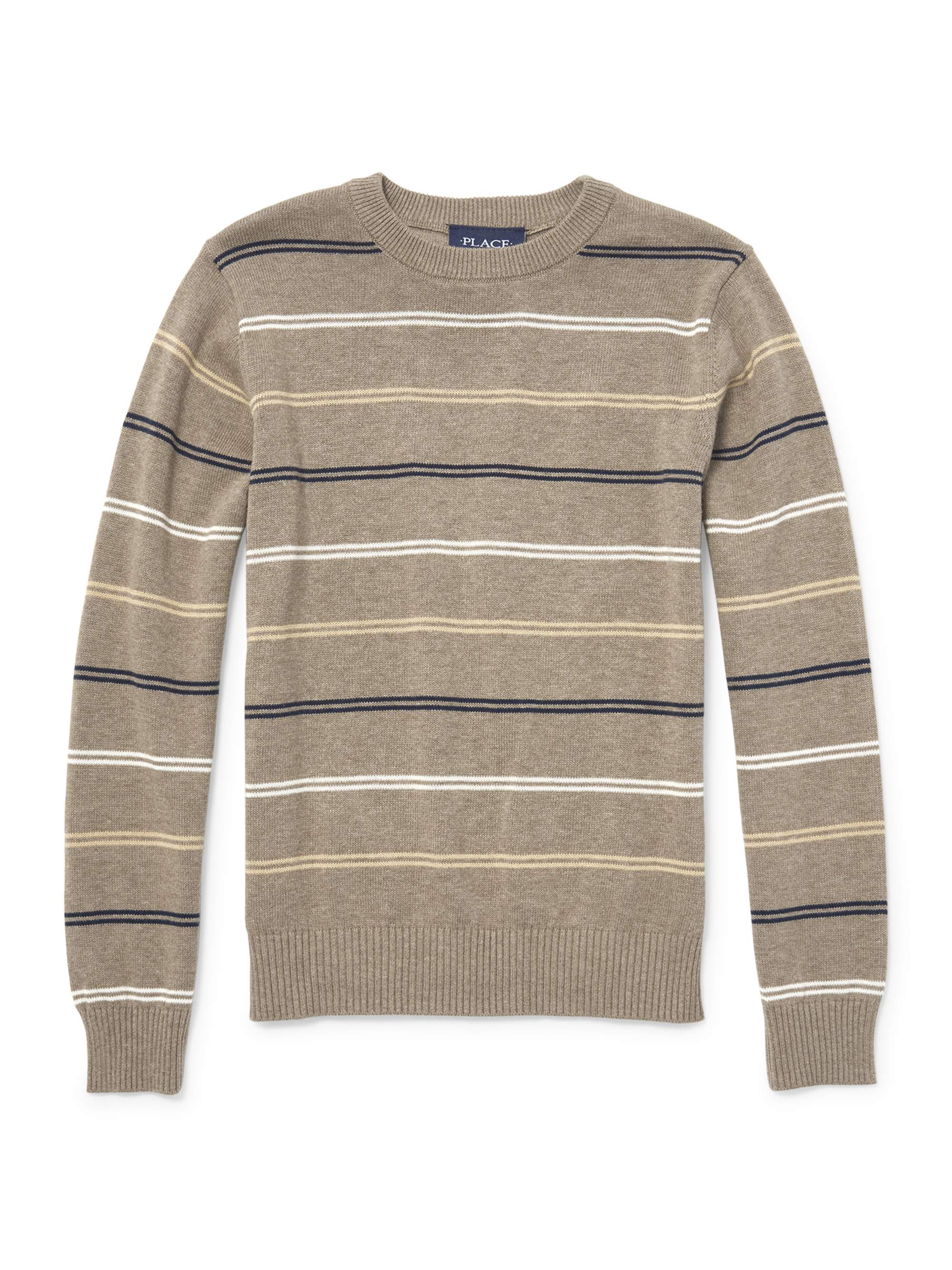 Long Sleeve Stripe Crew Neck Sweater (Little Boys & Big Boys)